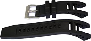 Vicdason for Invicta Subaqua Noma IV Watch Bands Replacement Strap with Bukcle - Black Rubber Silicone Invicta Watch Strap