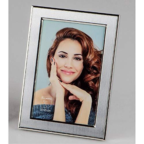 formano Bilderrahmen, Fotorahmen FINE für 10x15cm Silber matt + glänzend Metall
