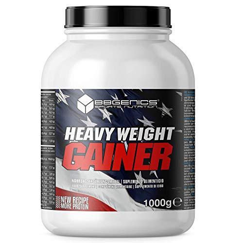 Heavy Weight Gainer, hidratos de carbono y proteínas, suplementos dietéticos BBGENICS, 1000g vainilla