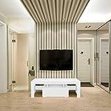 JIESD-Z Moderno soporte de TV centro de entretenimiento con luces, fuerte chimenea TV soporte sala consola mesa gabinete de almacenamiento para televisores de hasta 50 pulgadas (blanco)