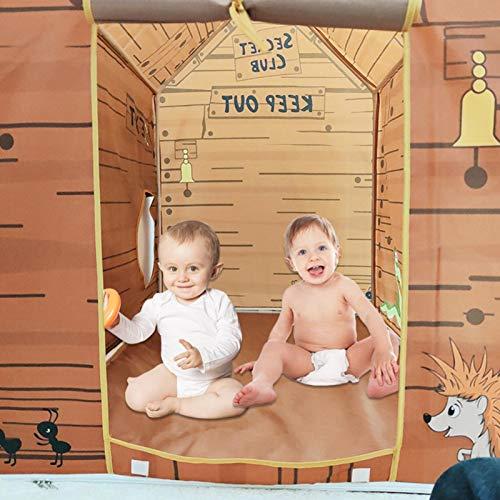 Los niños juegan el Juguete de la Tienda, la Yurt Princess Children's Play House La casa de Madera de la casa del Pirata Indio Tienda para niños Niños Niños Niñas Bebé para Juguetes de Interior