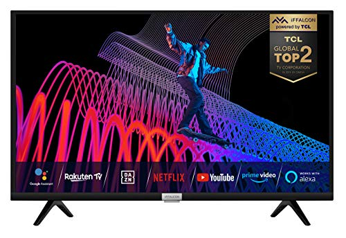 iFFALCON (by TCL) 32F510 Fernseher 32 Zoll (80 cm) Smart TV (HDR, Triple Tuner, Android TV, inklusive Sprachfernbedienung, Prime Video, Google Assistant und Alexa) [Energieklasse A+]