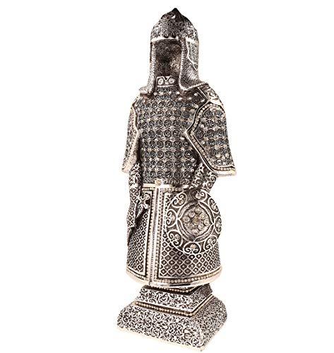 Ilm Verlag Islamische Heimdekoration, Osmanische Rüstung mit den 99 Namen Allahs in Silber, Dekoartikel,Tischdeko,Decor, (27 cm)