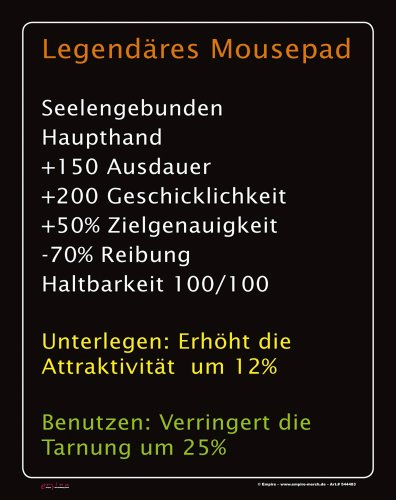 empireposter Mousepad Legendäres Mousepad Grösse 19x24 cm - EPDM-Kautschuk, fest, elastisch, abriebsicher, PVC-frei