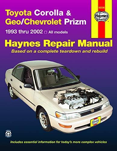 Toyota Corolla & Geo/Chevrolet Prizm 1993 Thru 2002 Haynes Repair Manual