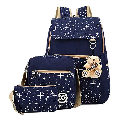 Children School Bags Backpacks with Bear Kids Bags Big Capacity Travel Bag Teenagers Girls Boys Rucksacks Blue