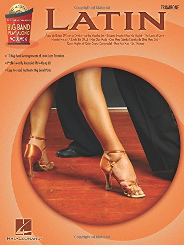 Big Band Play-Along Volume 6 Latin Trombone Tbn Book/Cd