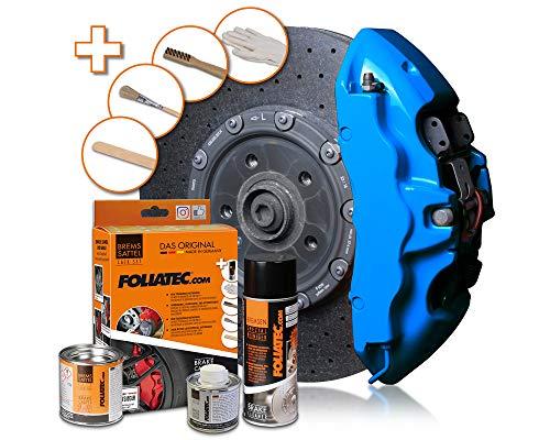 Foliatec - Kit peinture étriers de freins - Bleu (Blue), Ref: 2188