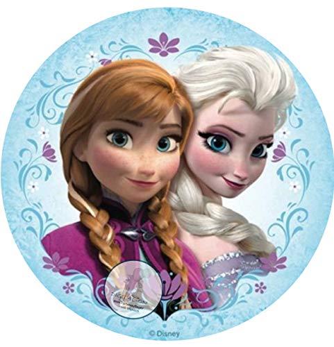 Frozen Die Eiskönigin, Essbares Foto für Torten, Tortenbild, Tortenaufleger Ø 20cm - Super Qualität, 0106w