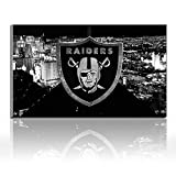 Karen Max Oakland Raiders Logo Painting Canvas Prints Wall Decor NFL, Home Decor Football Sport Pictures - Canvas Art Wall Decor Friends New Home Gifts Frameless (24x36inch Frameless)