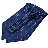 Panegy Herren Krawattenschal Ascotkrawatte Schal Fashion Gentleman Cravat Ties - Gepunktet Blau