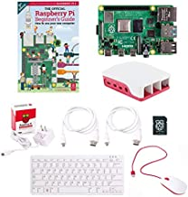 Raspberry Pi 4B Full Official Desktop Computer Starter Kit w/Pi 4 Model B Board, 16GB Micro SD Card, USB Mouse, USB Keyboard, Power Supply, Case and Micro HDMI Cable - Just Connect to HDMI Display