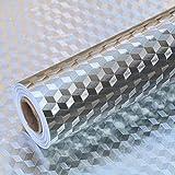 Fantasnight Adesivo Per Mobili Carta Adesiva 40×300cm Pellicola Protettiva Autoadesiva Foglio Di Alluminio Adesivi Mobili Per Cucina