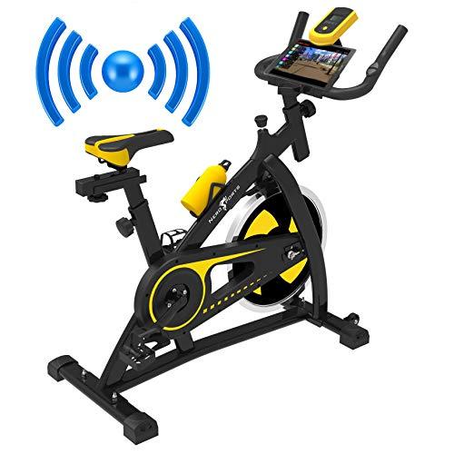 Nero Sports Bluetooth Upright Exercise Bike Indoor Studio Cycles Aerobic Training Fitness Cardio Bike