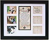 Pet Memorial Collage Frame for Dog or Cat with Sympathy Pawprints Left by You Poem - Made in the USA