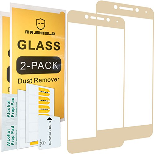 [2-Pack]-Mr.Shield for LeEco Le Pro 3 / Le Pro3 [Tempered Glass] [Full Cover][Golden] Screen Protector with Lifetime Replacement