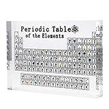 Konesky Mesa periódica de acrílico, elementos periódicos de exhibición de elementos químicos periódicos de acrílico, 17 x 12 x 2,4 cm, para enseñanza escolar, regalo de Navidad