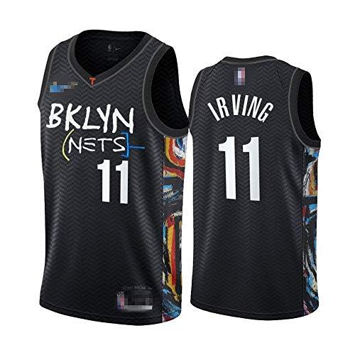 Camiseta de baloncesto para hombre, sin mangas, camiseta de baloncesto Kyrie Brooklyn NO.11 Nets Irving Player Jersey de baloncesto uniforme de secado rápido transpirable sudadera