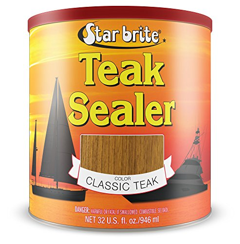 Star brite Teak Sealer - No Drip, Splatter-Free Formula - One Coat Coverage for All Fine Woods