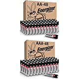 Energizer MAX AA Batteries & AAA Batteries Combo Pack, 48 AA and 48 AAA (96 Count)