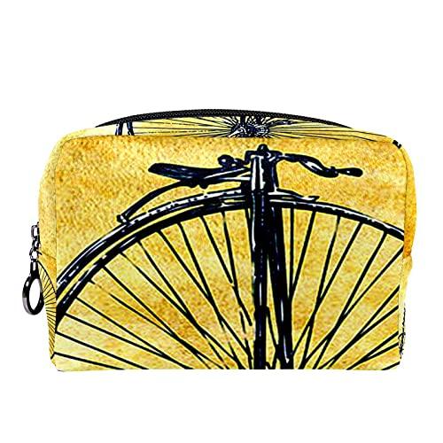 Bolsa de cosméticos para Mujeres Penny Vintage lejano Bicicleta Bolsas de Maquillaje...