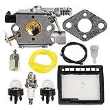 DAIMANPU WT-589 Kit de Ajuste del Filtro de Aire y Combustible del carburador para Echo CS-300 CS-301 CS-305 CS-340 CS-341 CS-345 CS-346 CS-3000 CS-3400 Sierra de Gas para Motosierra