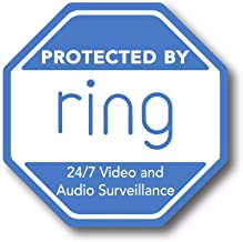 2pcs Ring Alarm Security decal for windows doors home doorbell or yard like a sticker SQ2