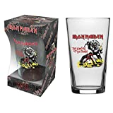 Iron Maiden Pint Glass Number Of The Beast Band Logo Official Boxed Size One Size