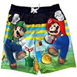 Mario Super Brothers Little Boys Swim Trunks (Navy Multi, 6)