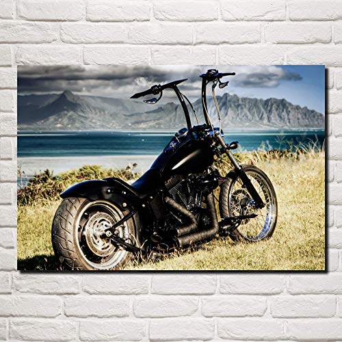 Asmoja 1000 pieces of adult wooden puzzle toys, Beautiful chopper motorcycle World Educational Game Adult Children Brain Challenge Jigsaw Game 50x75cm