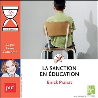 Couverture de La sanction en éducation en 1 heure