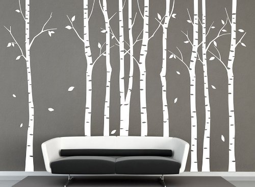 Vinyl groß weiß Birke Baum Wand Aufkleber Baum Aufkleber Kinderzimmer Birke Baum Aufkleber