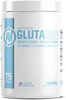 Sponsored Ad - GlutaOne L-Glutamine Powder by NutraOne – Post Workout Recovery Supplement (75 Servings)