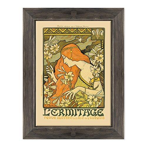 ConKrea muurschildering op canvas, ingelijst, klaar om op te hangen, Toulouse Lautrec, Advertising Vintage, Jugendstil