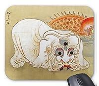 狩野洞琳由信『 妖怪、塗壁 』のマウスパッド:フォトパッド( 浮世絵シリーズ )