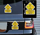 Printbeat Child with Autism Awareness Alert Responders Vinyl Decals Beach Bumper Stickers (4' x 3') 2 Pack - for Car Truck SUV Van Window Bumper Wall Laptop MacBook Water Bottle Coffee Mug Skateboard