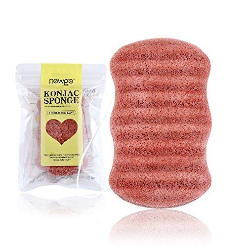 Éponge Konjac Visage Body pour exfolier 100% éponge naturelle pure corps, Gentle Exfoliation, Deep Cleansing, For Sensitive Skin, Oily And Acne-prone