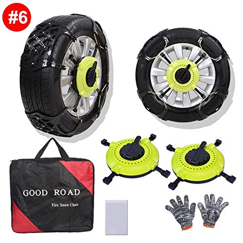 Big Save! blue--net Car Anti-Skid Tire Chains Snow Chains, Reusable Car Anti Slip Tire Traction Easy...