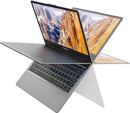 TECLAST F5 11.6''ノートPC、360°回転式 タッチスクリーン、メモリ8GB/256GB SSD搭載、1920*1080 IPS ディスプレイ、薄型軽量高性能小型ノートパソコン、Windows10、Type-C + Micro USB + Micro HDMI
