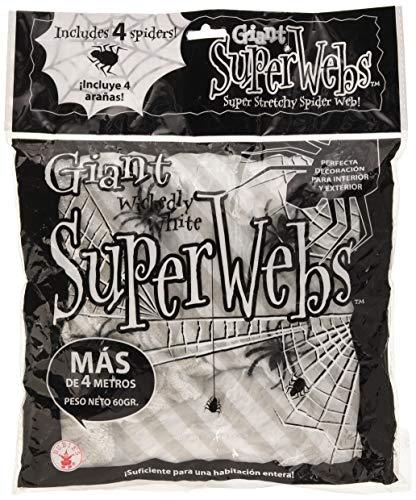 Rubies - Tela araña gigante con 4 arañas, color blanco Spain 2326