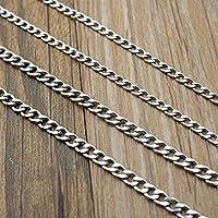 CHAOQIANG 女性男性DIYネックレスブレスレット作るためのステンレス鋼のリンクチェーンネックレスバルクジュエリーフィガロチェーン幅5M /ロット3-9 MM,高品質 (サイズ : 6mm 2meters)