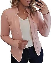 Vrouwen blazer dunne lange mouw blazer kleur lady pak jas vrouwen basisjassen