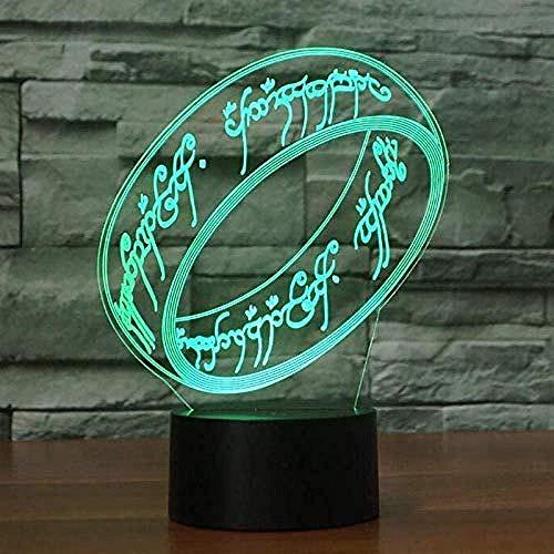 Luz Nocturna 3D Pulsera Lámpara De Óptico Ilusión De LVYONG Con Control Remoto 16 Cambio De Color Luces Led Usb De Táctil Para El Hogar Decoración Mejor Regalo Para Niños.