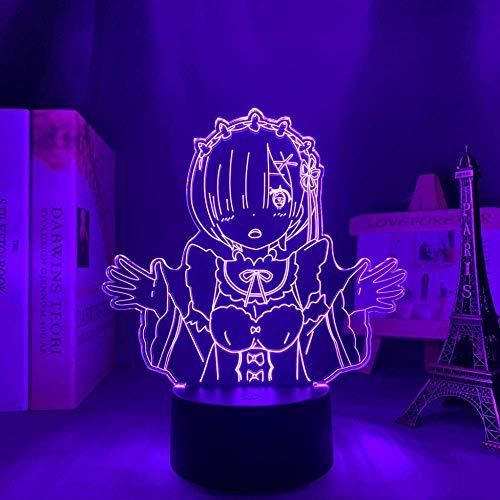 Luz nocturna para niños y bebés, luz fantasma 3D recargable, 16 colores con mando a distancia, regalos de cumpleaños y vacaciones para niños y niñas