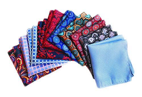 MENDENG Herren Taschentuch, quadratisch, Baumwolle, gepunktet, 10 Stück - mehrfarbig - Einheitsgröße