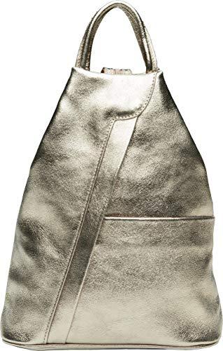 Caspar TL782 2 in 1 Leder Rucksack Handtasche, Farbe:bronze, Größe:One Size