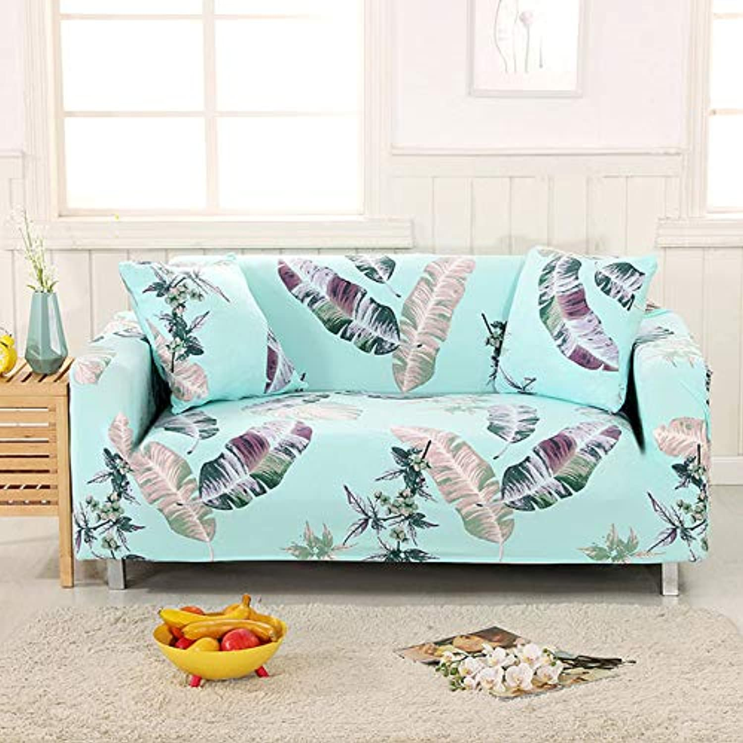 Leaves Slipcover Sofa Cover Tightly All-Inclusive Wrap Single Double Three Four-Seat Sofa Cover Elasticity Sofa Cover 1pc   6, Single seat Sofa