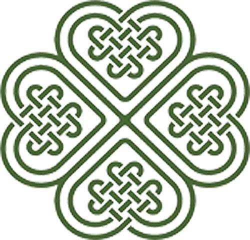 Celtic Knot Four Leaf Clover Vinyl Decal Sticker (4' Wide)