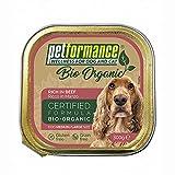 Alimento Umido per Cani Adulti Medio-Grandi - Biologico, Senza Glutine e Senza Cereali, Ideale in Caso di Intolleranze - 9 Vaschette da 300 gr, Manzo