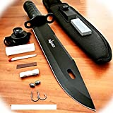 New 15' Inch Tactical Hunting Fixed Blade Pro Tactical Limited Knife Machete Bowie W/ Survival Kit Camping Outdoor B-1018A by ProTacticalUS